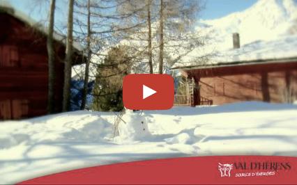Le val d'Hérens en hiver
