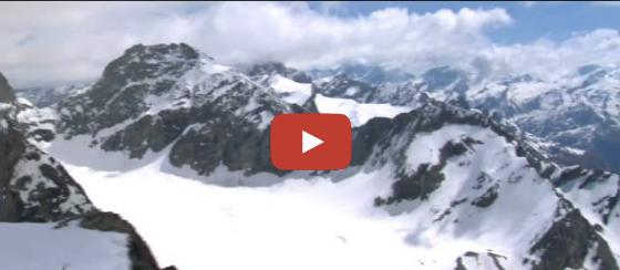 Le Val d'Hérens vu du ciel